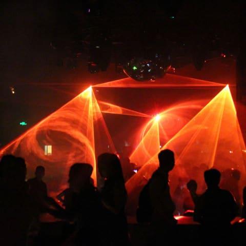 Lasershow in Discotheken