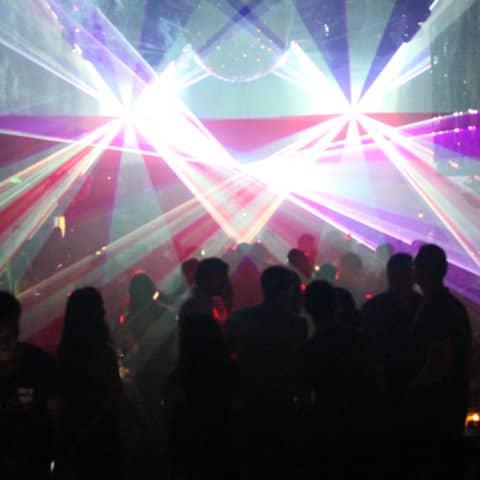 Lasershow im Club