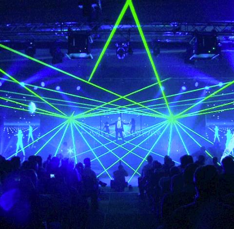 Lasershow zum Firmenjubiläum