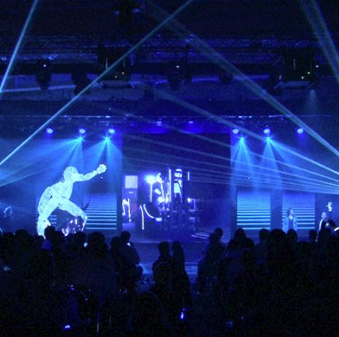 Laser Produktpräsentation