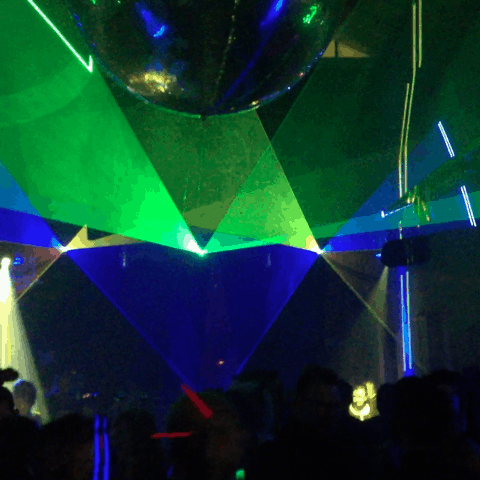 Laserbeams im Club
