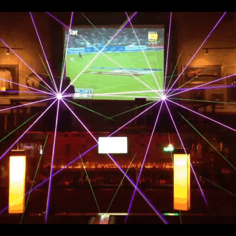 Laser beim Public Viewing