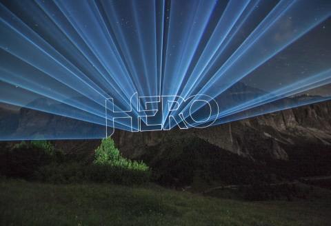 Ihr Logo als Laserprojektion
