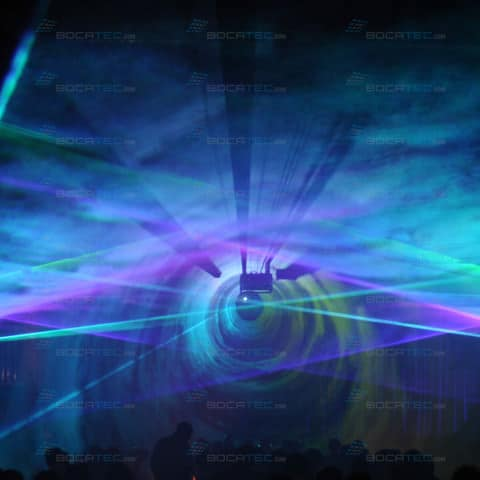 Lasertunnel in Discothek