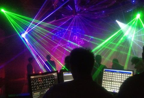 Laserbeams im Club