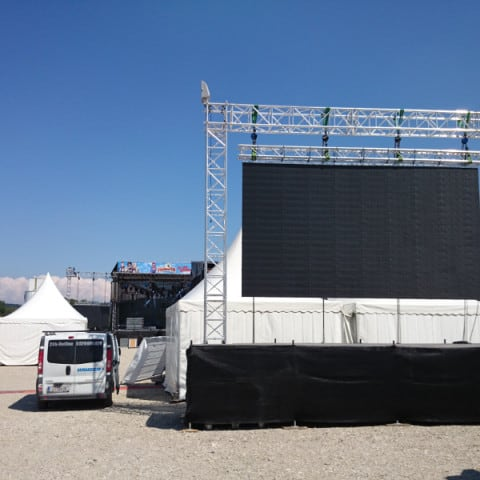 LED Wall für Sportevents, Public Viewing auf Outdoor Leinwand