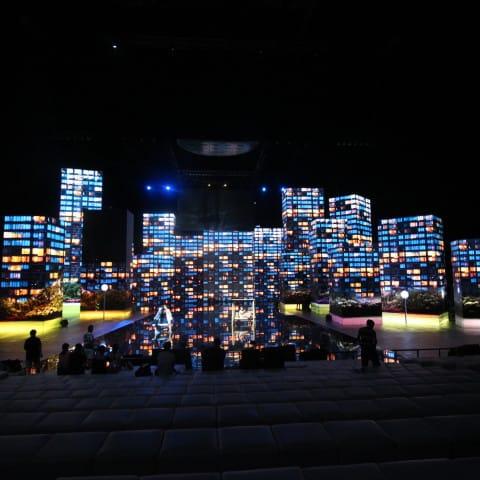 LED Wände sehen aus wie Großstadtgebäude für ein schönes Feeling