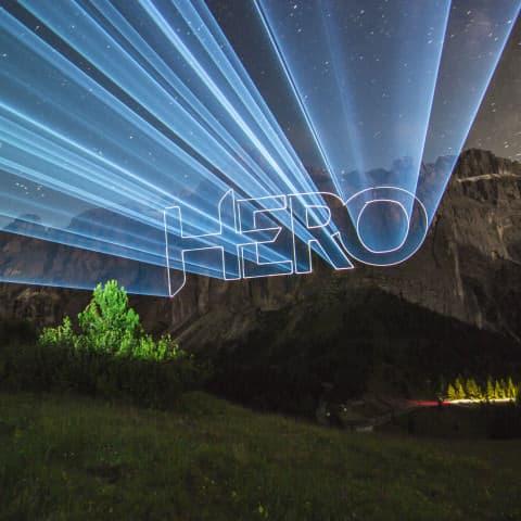 Laser-Logo-Projektion