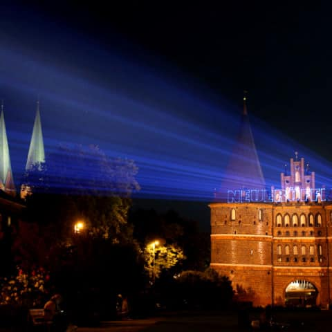 Holstentor Laserprojektion