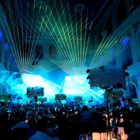 Lasershow in der Handelskammer Hamburg