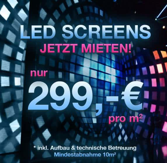 LED Leinwand bis 600m² Fläche mieten