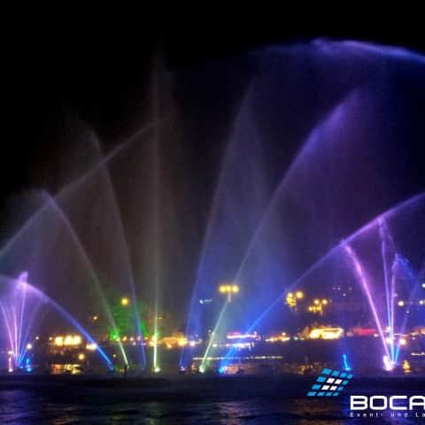 Wasserschild mit LED Beleuchtung