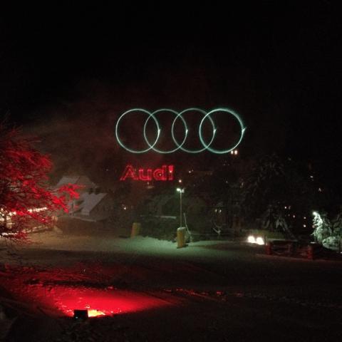 Audi Logo Projektion