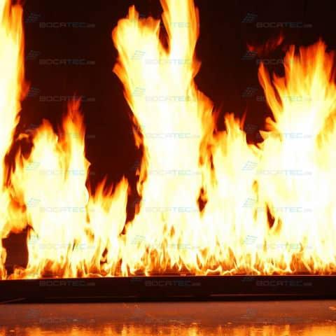 Brennende Wand