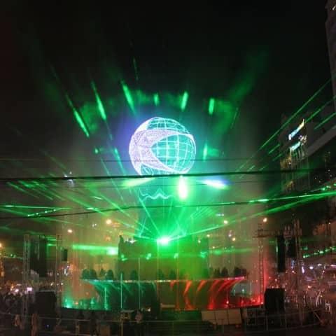 Lasershow Heineken Vietnam Silvester