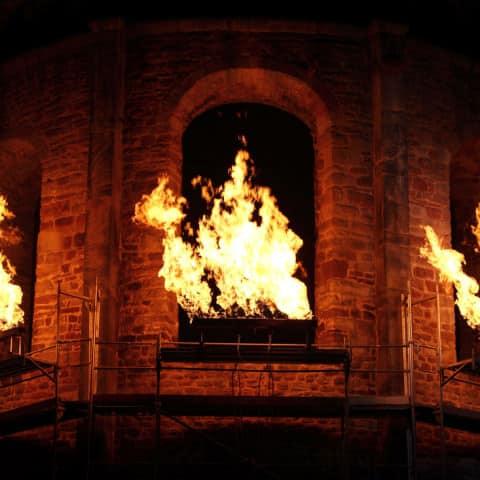 Flammen für Film und Fernsehen