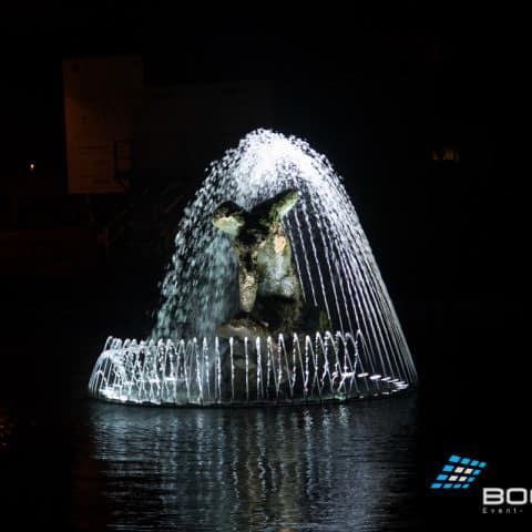 Wasserprojektion für Infinity Cars