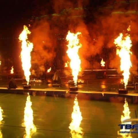 Flamemaster am Wasser