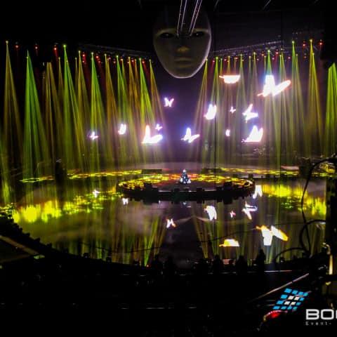 Licht, Laser und LED Leinwand