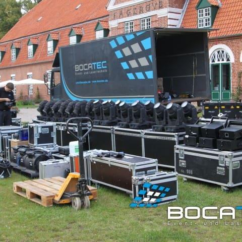 Aufbau und Installtion bei einer Veranstaltung von Bocatec