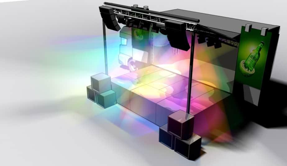 Show-Truck Visualisierung