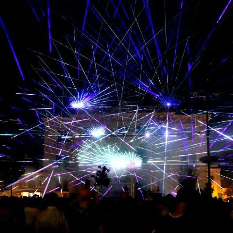 Große Outdoor Laser Show