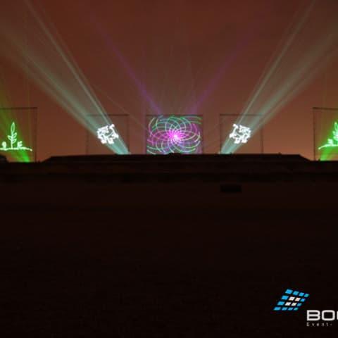 Laserprojektionen auf Projektionsleinwände