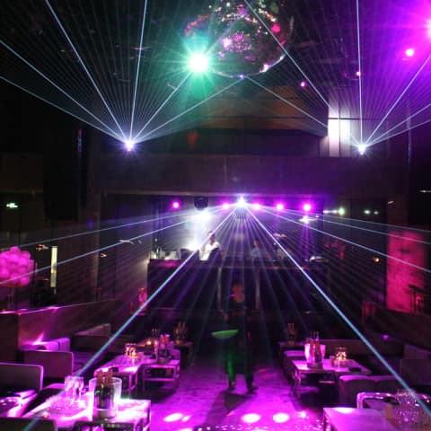 Multicolor laser system installation