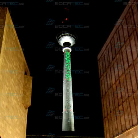 Berlin tv tower projection