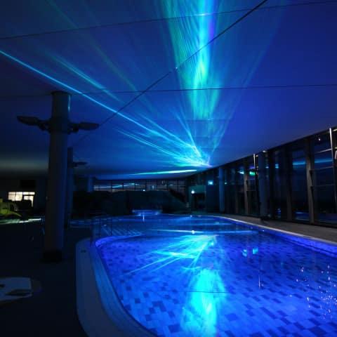Polar Projektion Schwimmbad