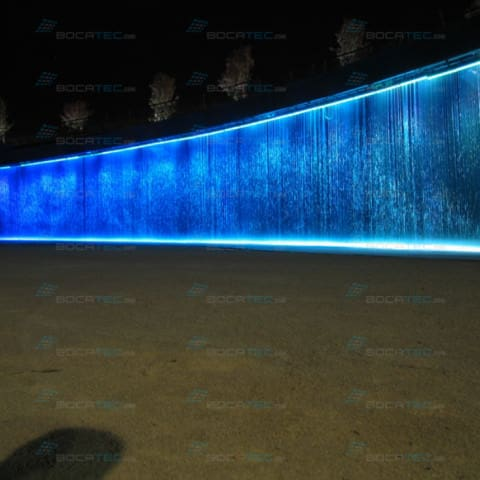 Water Screen with blue lighting