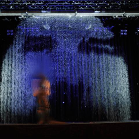 Writable Waterscreen - schreibende Wasserleinwand