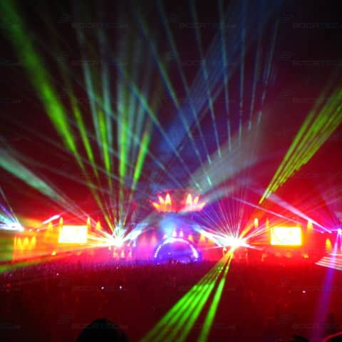 colourful Laser beams on the Dance Festival Airbeat One