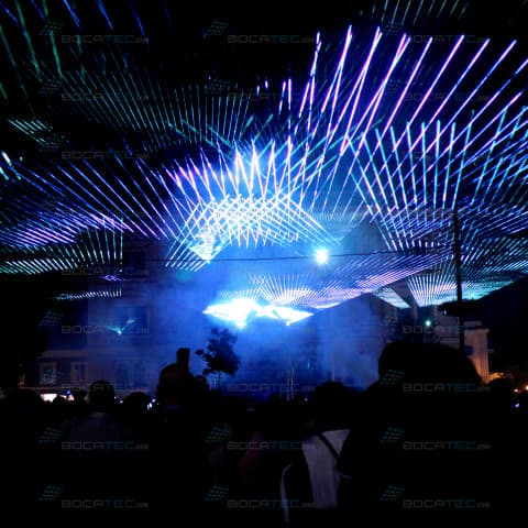 Big Open Air Laser Show in Tulln (Austria)