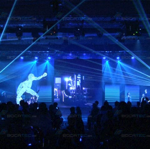 Lasershow with Lighteffects