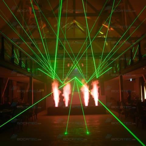 Company Event Laser Show with red flame effect