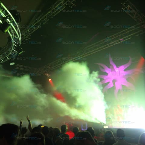 Clubbing with Co2 effects