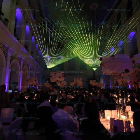 Company Event Laser Show with Lighteffects