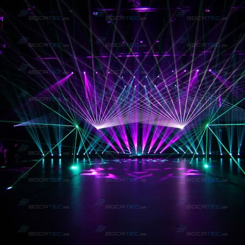 Laser Show with massive Beams