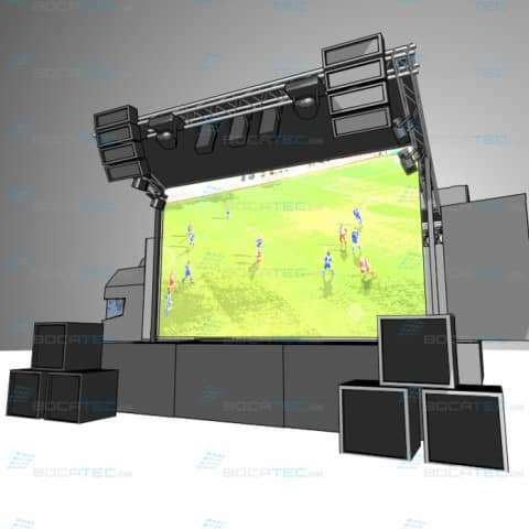 Led Screen Constr uction