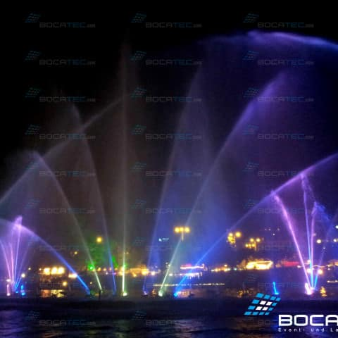 Oman Water Fontains and Laser Show