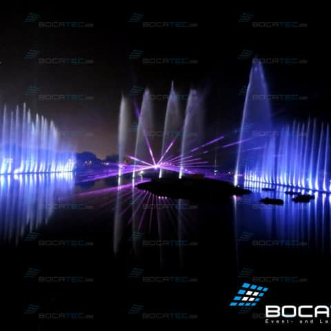 Water fontains with laserprojectors