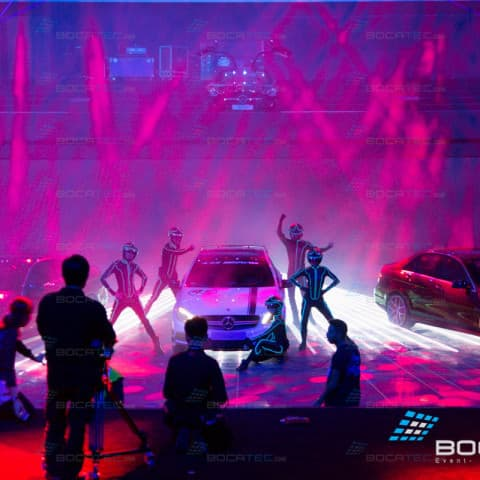 AMG Cars Laser show