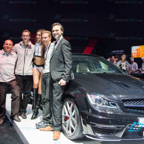 Laser show for AMG Cars