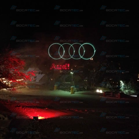 AUDI Logo projection