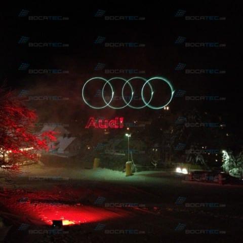 Audi logo branding