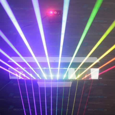 RGB Laser Beams mirror reflection