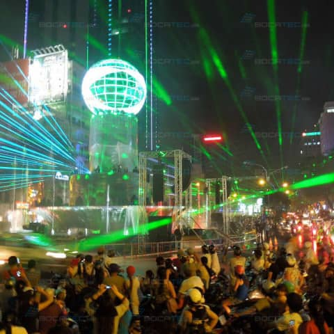 New Years Eve Show Heineken in Vietnam