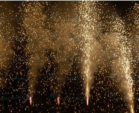 Gold-Glitter pyroeffect