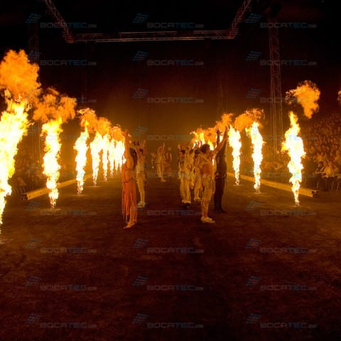 Circus Flic Flac with Bocatec GX2 Flames